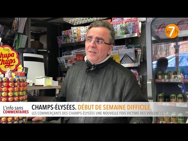 Champs-Élysées. Début de semaine difficile