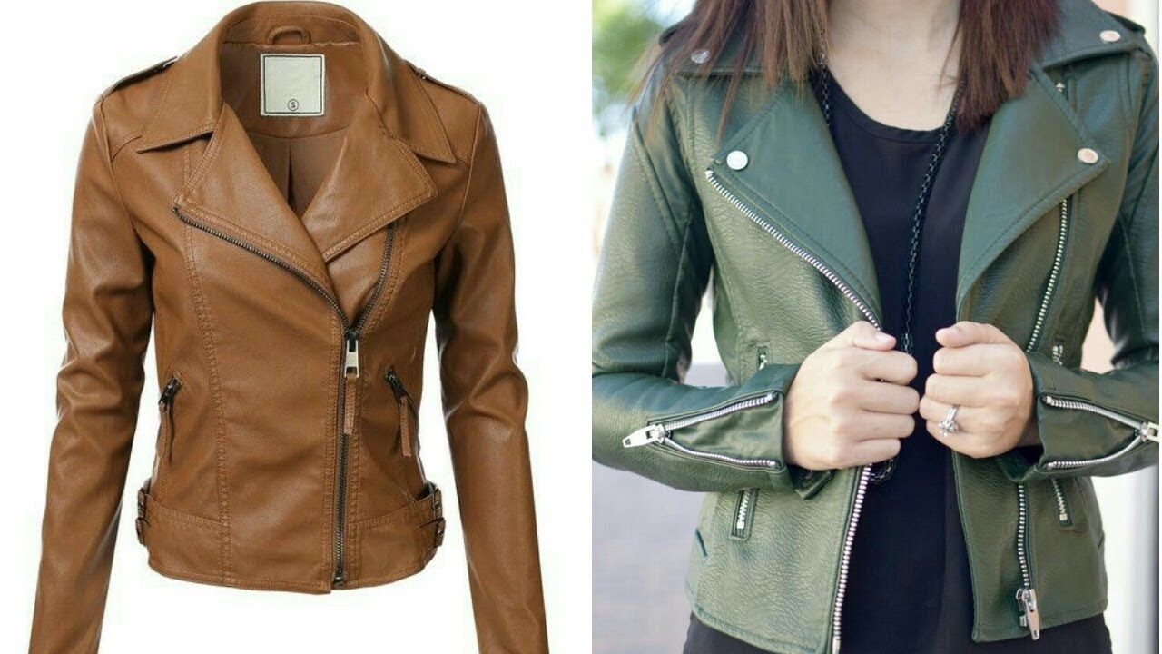 New Stylish Leather Jacket Design Collection For Girls Top Stylish