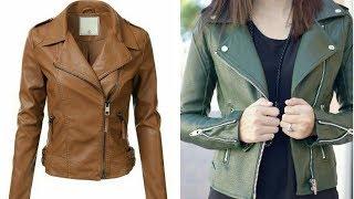 New & Stylish Leather jacket Design Collection For Girls/Top Stylish Leather jacket Design 2017-18