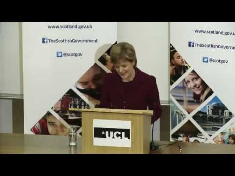 Rt Hon Nicola Sturgeon MSP: Austerity, inequality and the Scottish approach to economic growth