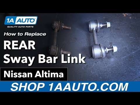 How to Replace Install Rear Sway Bar Links 02-06 Nissan Altima