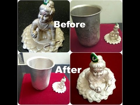 How to Clean Silver Items at Home / Easy way to Clean Silver Pooja items at home.- monikazz kitchen