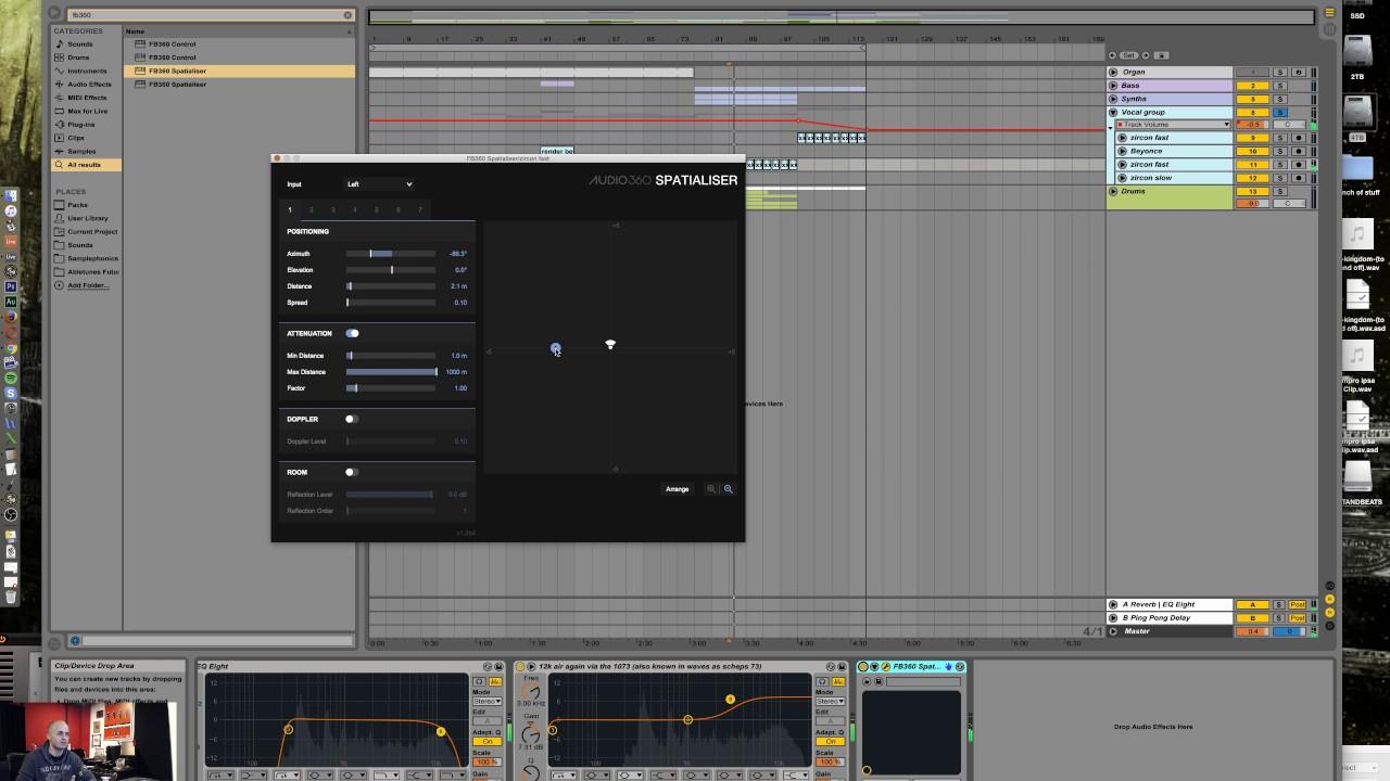 Free binaural panning plugin in Ableton Live 9