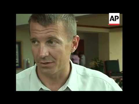 The Associated Press was granted rare, on-camera access to Blackwater Worldwide's North Carolina com