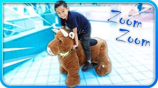 Ride On Animals at Mall! Electric Toy Scooter!!! - TigerBox HD