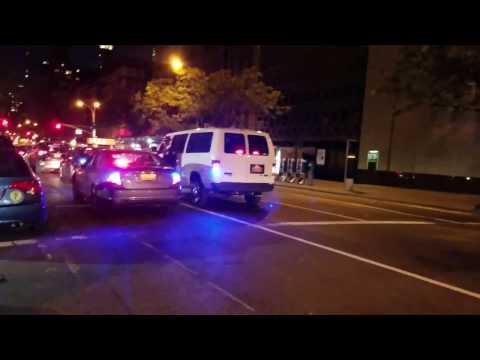 NYC Taxi And Limousine Commission Enforcement And Police On A Traffic Stop On The Upper East Side