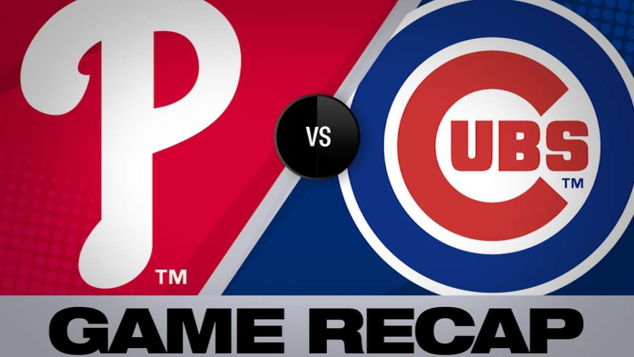 Cubs Hit 3 Homers In Win Over Phillies