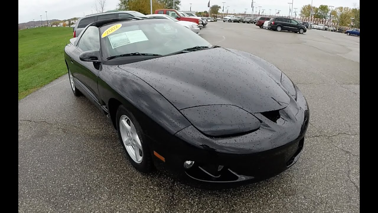 2002 Pontiac Firebird Black Sports Car Manual Transmission T Tops P9821a