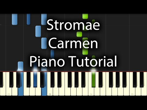 Stromae - Carmen Tutorial (How To Play On Piano)