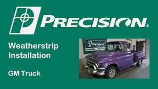 1955-1959 Chevy Truck Vent Weatherstrip Installation