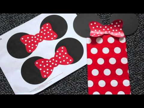 DIY Mickey/Minnie Mouse Goody Bags