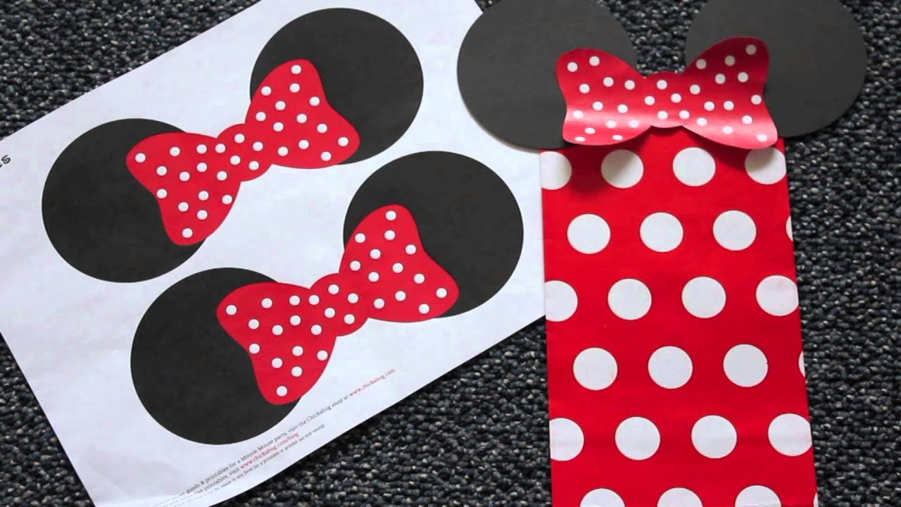 diy mickey  minnie mouse goody bags