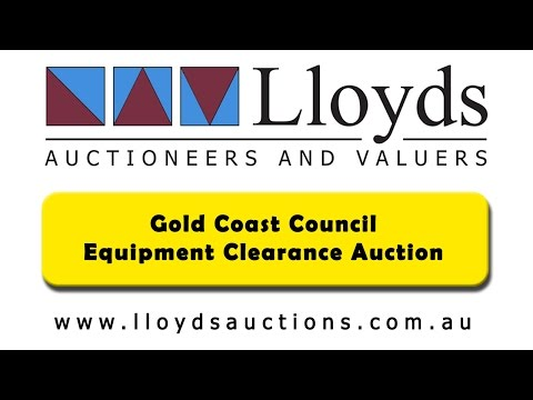 Gold Coast Council Auction | Minor Equipment Ex-Government Sale By Lloyds Auctions