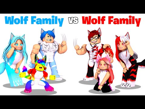 Roblox WOLF Family vs EVIL WOLF Family.. 🐺🐾