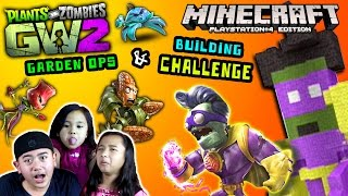 PVZ GARDEN WARFARE 2 Minecraft Building CHALLENGE & Garden Ops w/ Minecraft Ethan