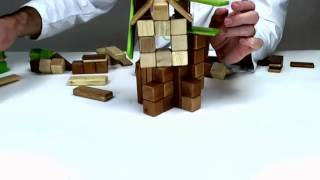 Building A Tree House Out Of Traditional Toys From Tegu