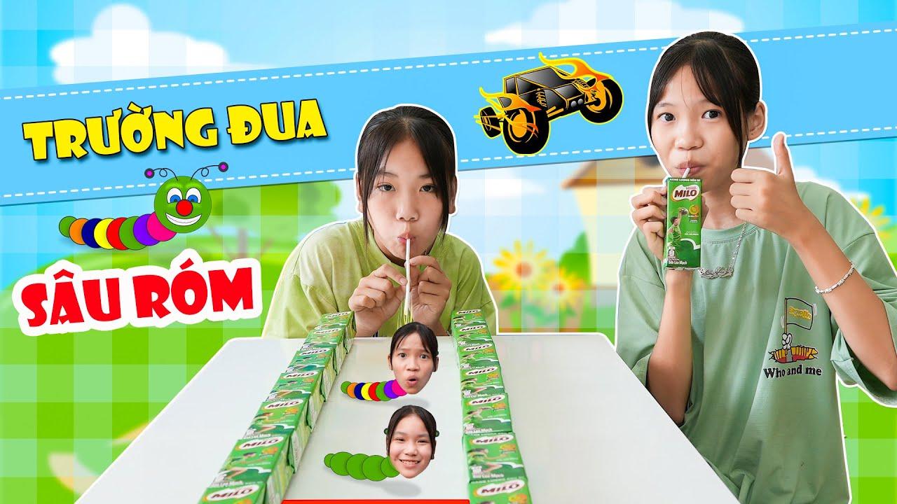 Download Trường Đua Sâu Róm & Ống Hút Giấy Thần Kỳ ♥  Min Min TV Minh Khoa