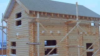 Строительство дома из оцилиндрованного бревна(, 2017-01-19T16:56:48.000Z)