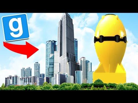 "GMOD Sandbox: NUKE BIGGER THEN A BUILDING ""Explosion"" (Gmod Funny Moments)"