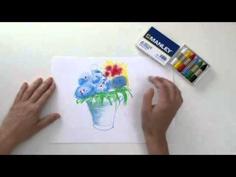 Degradados de colores con ceras Manley - YouTube