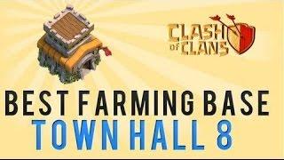 Clash of Clans | Ultimate Town Hall *8* Farming Base | Dark Elixir Base 2014