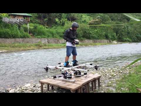 Manned drone multicopter flying Hoverboard Fun Fly