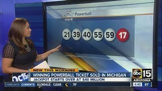 Winning powerball ticket sold in Michigan