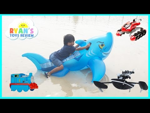 Giant Inflatable Shark Water Toys for Kids Parrot Drone Hot Wheels RC Terrain Twister Thomas Train