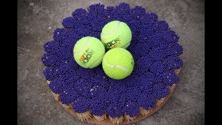 Experiment Tennis Ball vs 25000 Matchsticks -- The Most Satisfying Video - Amazing Crazy Experiment