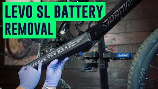 How to remove tнe battery, cranks and motor on a Specialized Turbo Levo SL