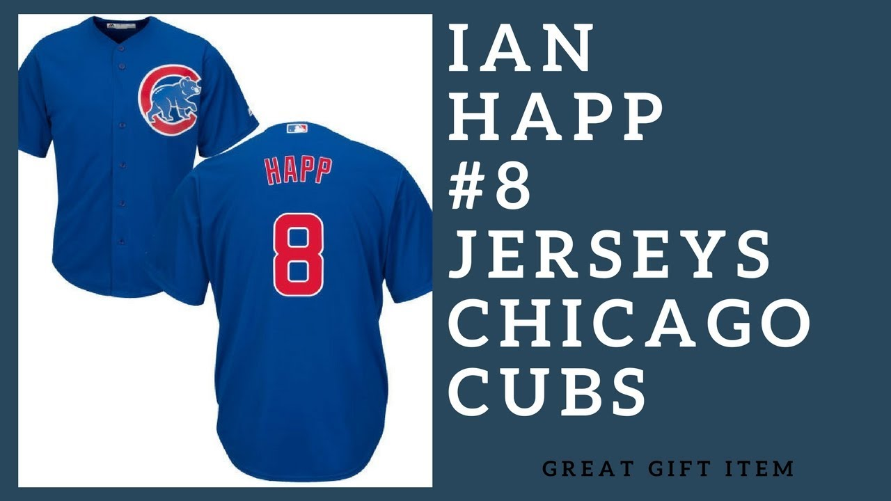 newest c77e9 449a1 Ian Happ 8 Chicago Cubs Majestic Cool Base Player Jersey ...