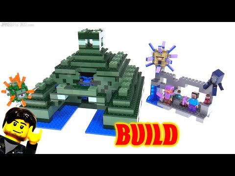 Time lapse ⏩ LEGO Minecraft Ocean Monument BUILD 21136