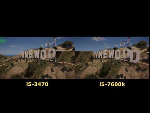 Core i5-7600K vs i5-3470 Kabylake vs Ivy Bridge 5 Games Side By Side Benchmark Comparison