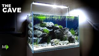 """THE CAVE"" AQUARIUM......How To - Aquascape Tutorial / Setup"