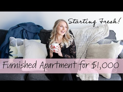 FURNISHING MY ENTIRE APARTMENT FOR $1,000!