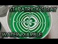 St. Patrick's Day | Water Marble March 2013 #4 | DIY Nail Art Tutorial