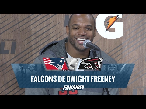 Super Bowl 51 Media Day: Falcons DE Dwight Freeney