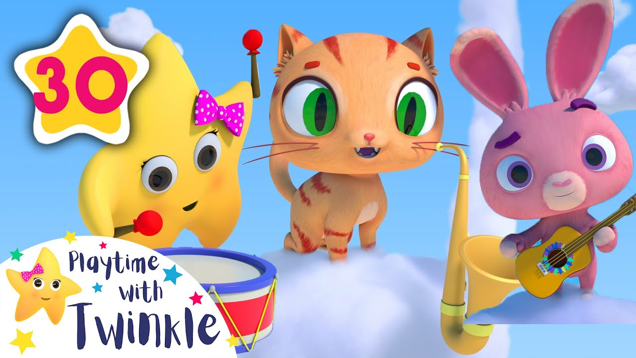 Play Musical Instruments with Twinkle and Friends!   Kids Songs & Nursery Rhymes   Little Baby Bum
