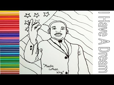 How to Draw Martin Luther king Jr. step by step | MLK | I have a dream