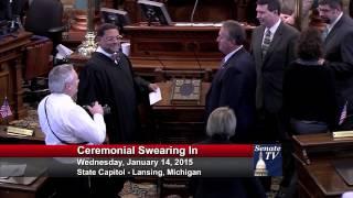 Senator Mike Nofs takes his Oath of Office in the 98th Legislature.