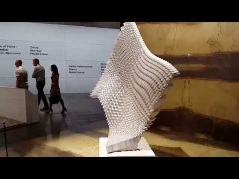 Shapemill of MARGRAF with amazing sculpture for MARMOMACC 2016