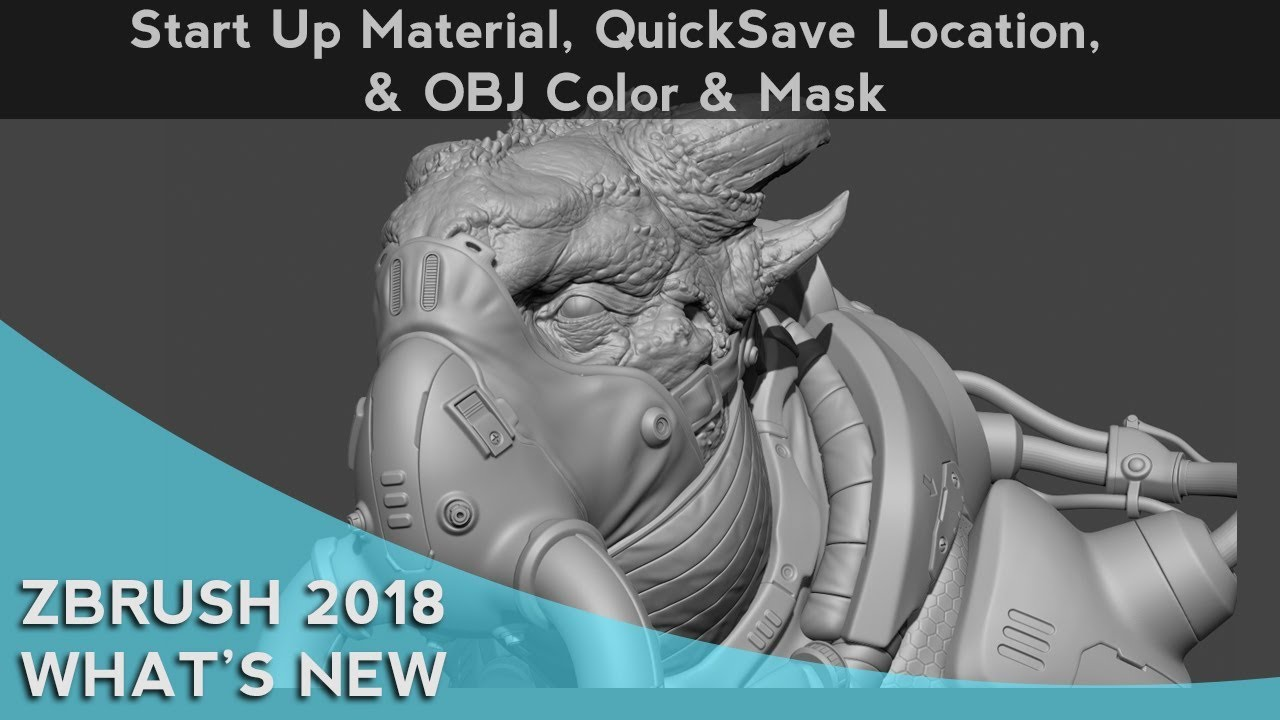 054 ZBrush 2018 Start Up Material Quicksave Location OBJ Color And Mask