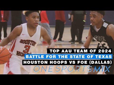 Top Class of 2024 AAU Teams Battle 🔥  Houston Hoops vs FOE