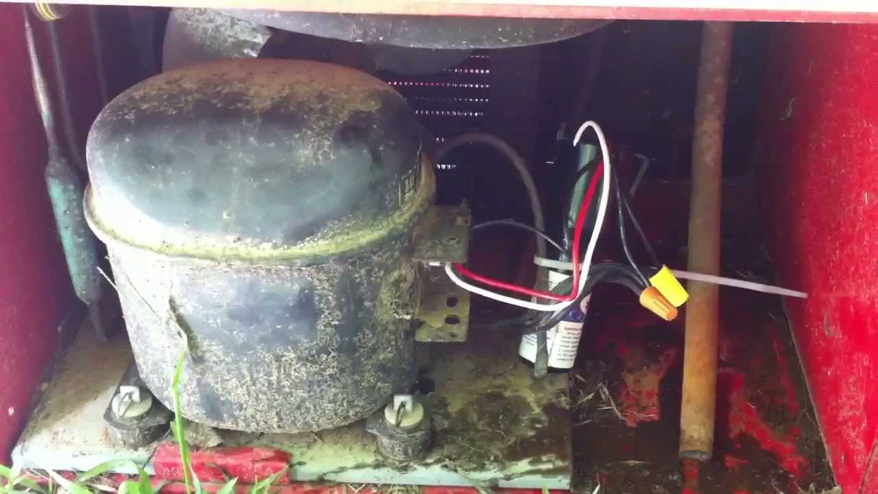 compressor fix on a drink machine or refrigerator capacitor youtube rh youtube com old fridge wiring diagram