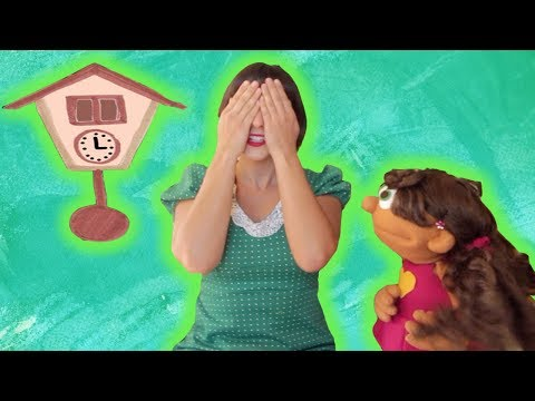 Tick Tock Tick Tock I'm a little Cuckoo clock | Kids Learning Song | Sweetly Spun Music with Peanut