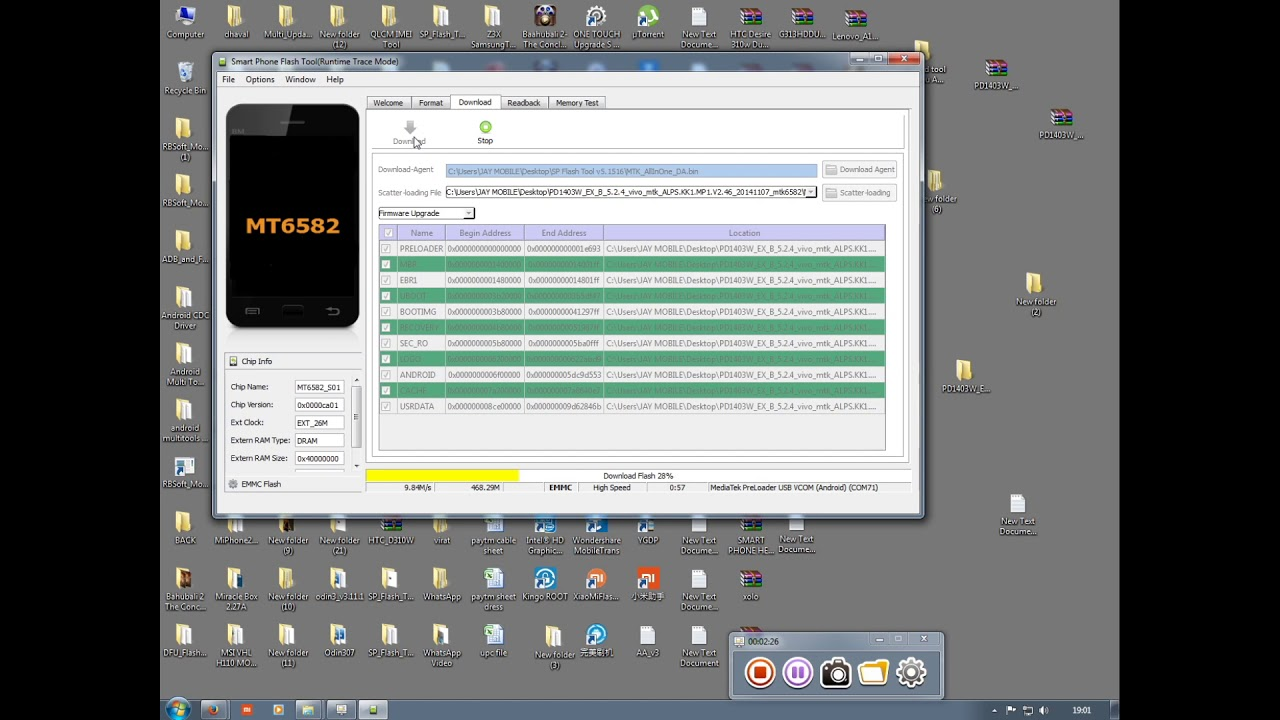 How TO Flash Vivo Y28 1000% done by Smart Phone Help