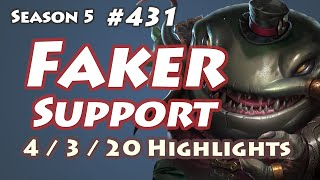 skt t1 faker tahm kench support with cpt jack caitlyn kr lol soloq highlights