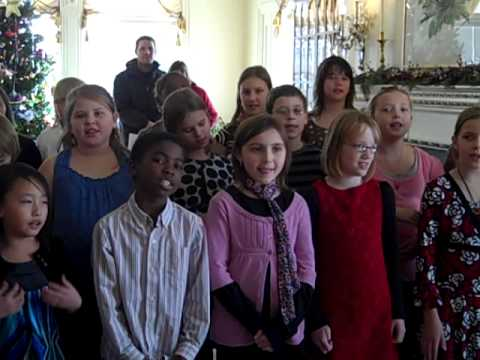 Westside Elementary School Choir at Governor's Mansion -- 1 of 2