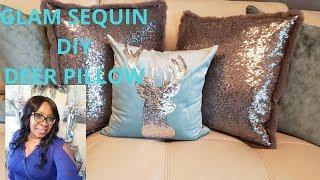 💎🎄Glam DIY Reindeer Christmas Sequin Pillow