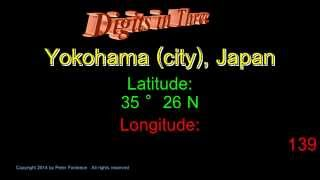 Yokohama Japan - Latitude and Longitude - Digits in Three